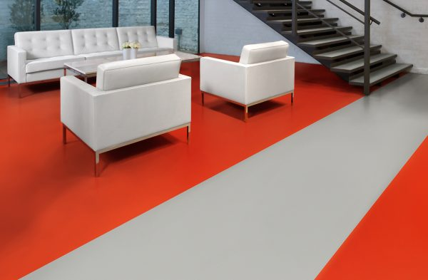 Polyflor Bloc 9948 Red Beacon and 9933 Studio Grey